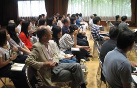 講演はテレ玉、埼玉新聞の取材も。
